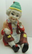 "Vintage Porcelain Clown Sculpture Art Figurine Clown Head 7"" Tall"