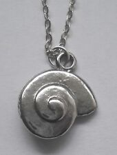 (18mm x 15mm) pendant Chain Necklace #1123 Pewter Shell