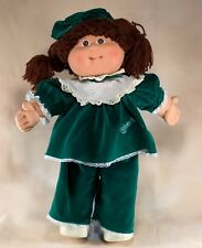 "Cabbage Patch Kids Doll Yarn Hair 16"" Coleco Green CPK Clothes & Shoes Hong Kong"