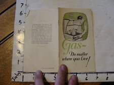 Vintage  booklet on the house:1928 GAS no matter where you live