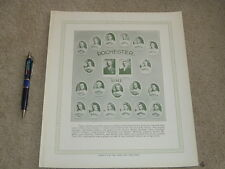 1929 - 1933 Blum's Baseball Bulletin 1911 Rochester Team Premium