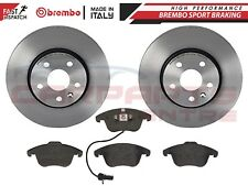 FOR AUDI A4 B8 A5 2008- FRONT GENUINE OEM BREMBO BRAKE DISCS AND PADS SET 314mm