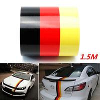 Deutschland Flagge Auto Aufkleber Karosserie Haube Sticker 1.5mx15cm Wasserdicht
