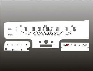 1981-1988 Oldsmobile Cutlass Sweep Dash Cluster White Face Gauges 81-88