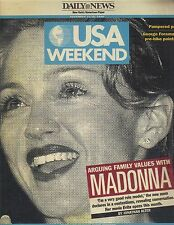 MADONNA ARGUING FAMILY VALUES USA Weekend Magazine 12/13/96 LIONEL RICHIE PC