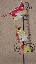 "Rain Gauge Cardinal NEW metal with glass tube measures 7"" - 17.8 cm"