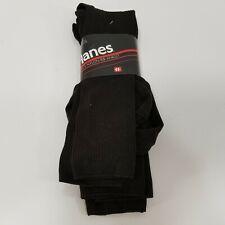 1992 Hanes Mens 3 Pack Brown Socks Nylon Rib Anklet Size 10-13 New
