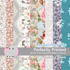18 Patterned Paper Sq 140mm -Perfectly Printed Craft Paper - Vintage Patterns I