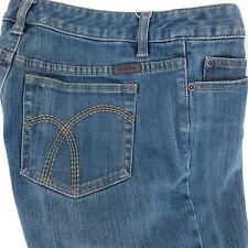 Liz Claiborne Womens Jeans Petite 6 Blue Denim 98% Cotton Spandex Straight Leg