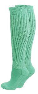 Seafoam Green Slouch Knee Socks WARM Scrunchie Hooters Uniform Long Walk Retro