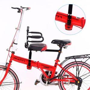Child Bike Seat Mountain Bicycle Frame Front Mount Foldable Saddle Safety