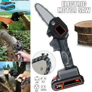 550W Mini One-Hand Saw Woodworking Electric Chain Saw Wood Cutter Tree pruning