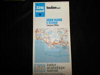 carte  IGN bleue 3346 ouest toulon (var)  1987