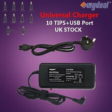 Universal AC Adapter Charger Power Supply Laptop NoteBook 90W + 10 Tips UK STOCK