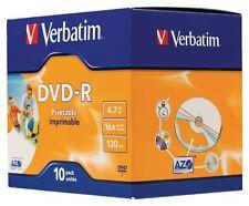 VERBATIM DVD-R Stampabile A Getto D'inchiostro ampia ID BRAND
