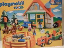 PLAYMOBIL 123- N°5058-LA MAISON DANS LA FORET=11 ANIMAUX + 4 PERSONNAGES-NEUF