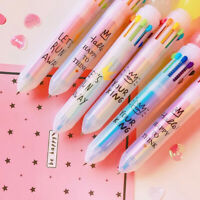 2Pcs Multi-color Ballpoint Pen Student School Office Stationery Writing Tools