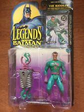 El Acertijo leyendas de Batman Figura Coleccionistas Tarjeta Kenner 1995 Retro BNIP