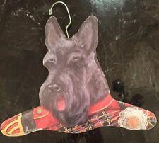 Vtg Scottish Terrier Wooden Hanger Handcrafted