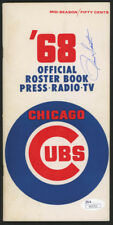 Ron Santo Signed 1968 Chicago Cubs Mid-Season Official Roster Book (JSA COA) HOF