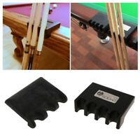 Premium Solid Weight Pool Cue Holder Clip Clamp Table Keeper Rest Stand