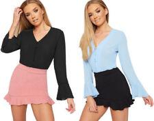 Maglie e camicie da donna in poliestere party con colletto classico