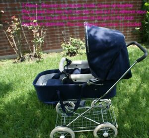 Vintage Emmaljunga Carriage Baby Stroller and Bassinet S-280 22 Pram