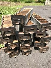 Vintage Industrial Heller Co Small Hardware Drawers