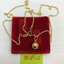Gold Authentic 18k gold ball necklace 18 inches chain