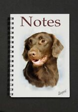 Flatcoated Retriever Liver Dog Notebook/Notepad with small image on every page