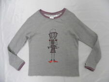 Roxy Girls Over Easy Gray Hoodie Pullover Sweaters Sz 10 Surf Skate