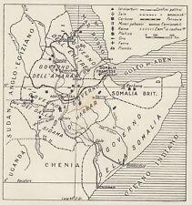 C3261 Risorse minerarie dell'Africa Orientale Italiana - Mappa - 1936 old map