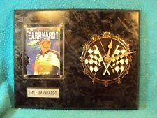 Vtg #3 NASCAR Dale Earnhardt Sr 1st Bite Race Shark Card Plaque Clock SHIPS FREE