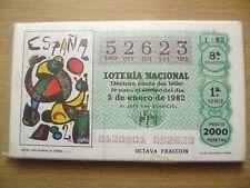 España Copa del Mundo FIFA 1982 Loteria Nacional Set