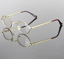 New Mens Womens Clear Lens Eye Glasses Retro Metal Frame Oval Fashion Optical RX