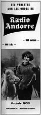▬► PUBLICITE ADVERTISING AD RADIO ANDORRE Marjorie Noel 19 Février 1967 (a)