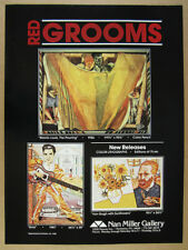 1988 Red Grooms Morris Louis Elvis Van Gogh lithographs offer vintage print Ad