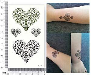 Einmal Tattoo Herz Temporary Tattoo Herzmuster Temporäre Tattoos Aufkleber X-439