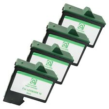 4 BLACK LXM16 Ink Cartridges for Lexmark Z 13 23 25 34 35 515 600 602 Printers