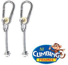 """Par de ganchos de tipo """"o"""" Swing-Acero Galvanizado-Juego de 2 Marco de escalada Set M10"""