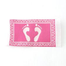 Footprint Bath Mat - Pink, Doll House Bathroom Mat. 1.12 Scale Rug