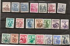 N°343- beau lot 22 timbres Autriche  de 2 séries -oblitérés -différents-b.état