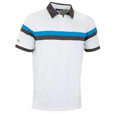 Callaway Golf Mens Two Colour Block Polo Shirt - Bright White - S