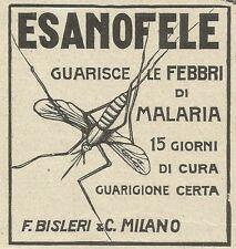 W6152 ESANOFELE guarisce la malaria - Pubblicità 1915 - Advertising