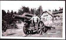 VINTAGE PHOTOGRAPH 1920'S MILITARY FORT CANNONS MICHIGAN COLORADO NEBRASKA PHOTO