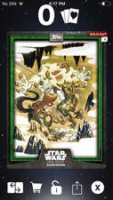Topps Star Wars Digital Card Trader Green Wampa Card Trader Illus. Insert