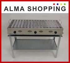 Barbecue a gas con griglia acciaio inox 3 fuochi BeP