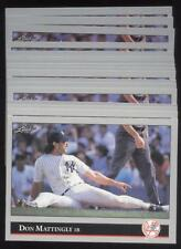17 CARD LOT 1992 LEAF BASEBALL #57 DON MATTINGLY NMMT
