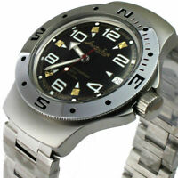 Vostok Amphibian Watch 060335 Russian Military Automatic Scuba Diver New