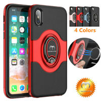 For iPhone 11 Pro/XR X 7 8 Plus Mosafe® Hybrid TPU Bumper Ring Holder Case Cover